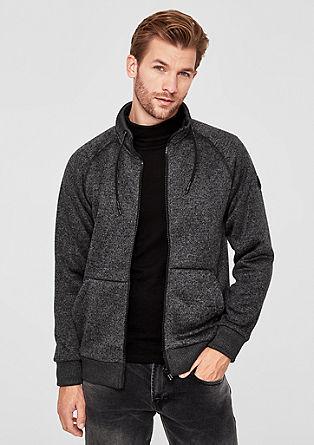 Vest van gebreide fleece met voering van teddy