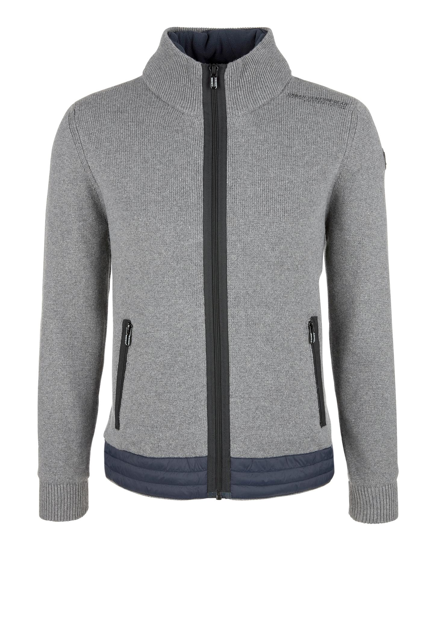 Outdoor-Strickjacke | Sportbekleidung > Sportjacken > Outdoorjacken | Grau/schwarz | Garn 47% baumwolle -  28% polyamid -  20% viskose -  5% wolle| obermaterial 100% polyamid| füllmaterial 100% polyester | s.Oliver