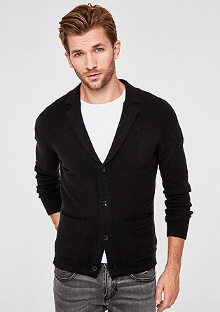 Soft cardigan with a lapel from s.Oliver