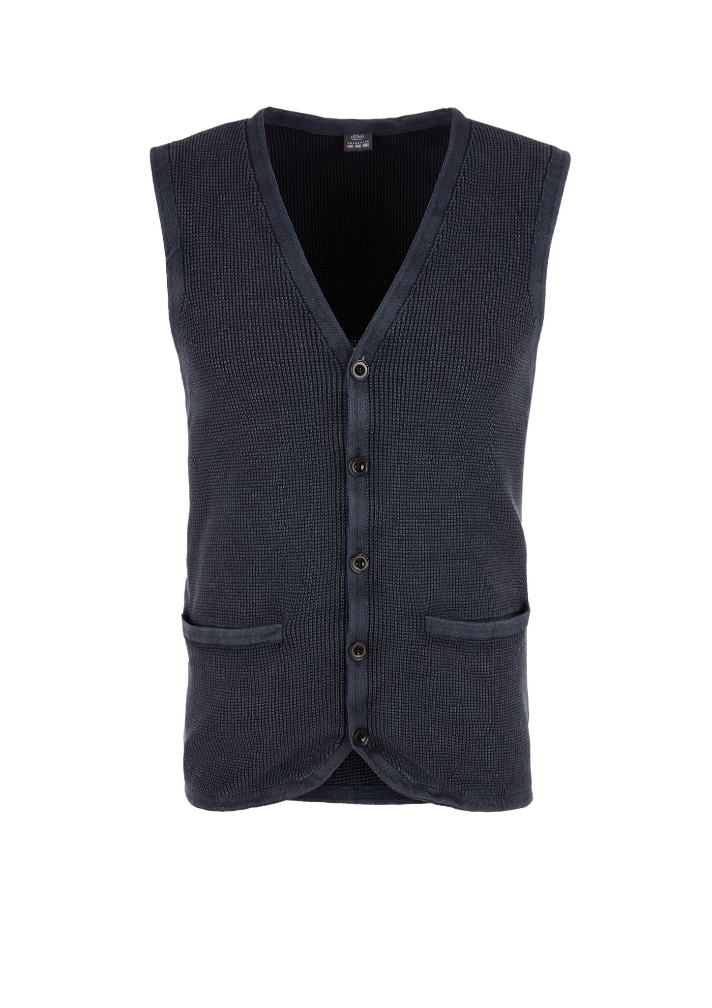 Strickweste | Bekleidung > Westen > Strickwesten | Blau | 100% baumwolle | s.Oliver