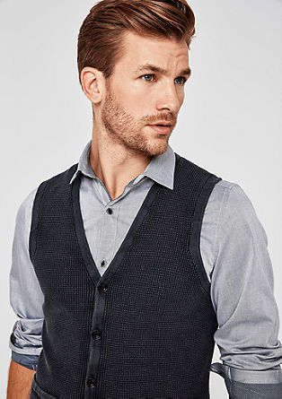 Knitted waistcoat with a pigment-dyed effect from s.Oliver