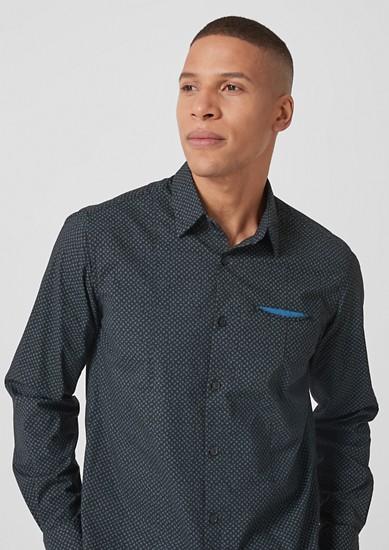 Slim: chemise stretch à motif de s.Oliver