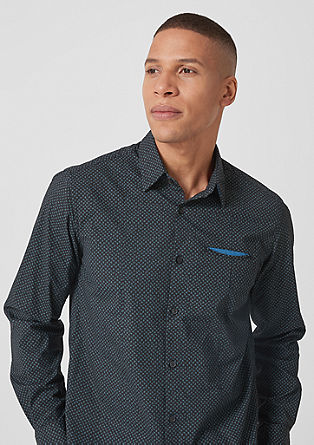Slim: Patterned shirt from s.Oliver