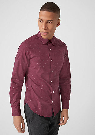 Slim: shirt with a woven pattern from s.Oliver