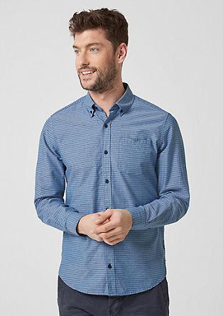 Regular: pruhovaná košile spropínacím límcem