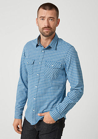 Slim: twill shirt with a check pattern from s.Oliver