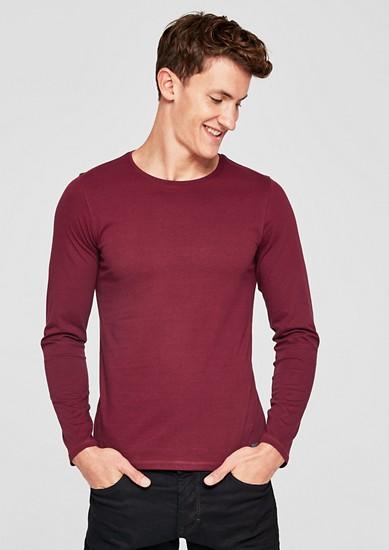 Slim: tričko s dlouhým rukávem z bavlněného žerzeje