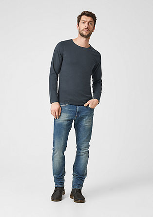 Slim: t-shirt à manches longues en jersey de coton de s.Oliver