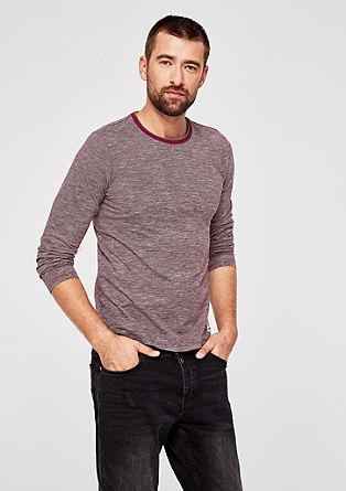 Slim: Jersey longsleeve van slubgaren