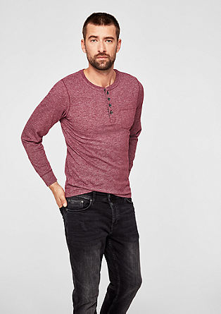 Slim: henley top with a melange finish from s.Oliver