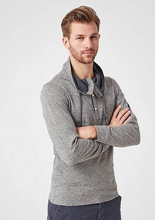 Sportief shirt met turtleneck