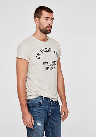 T-shirt en jersey animé d'une inscription de s.Oliver