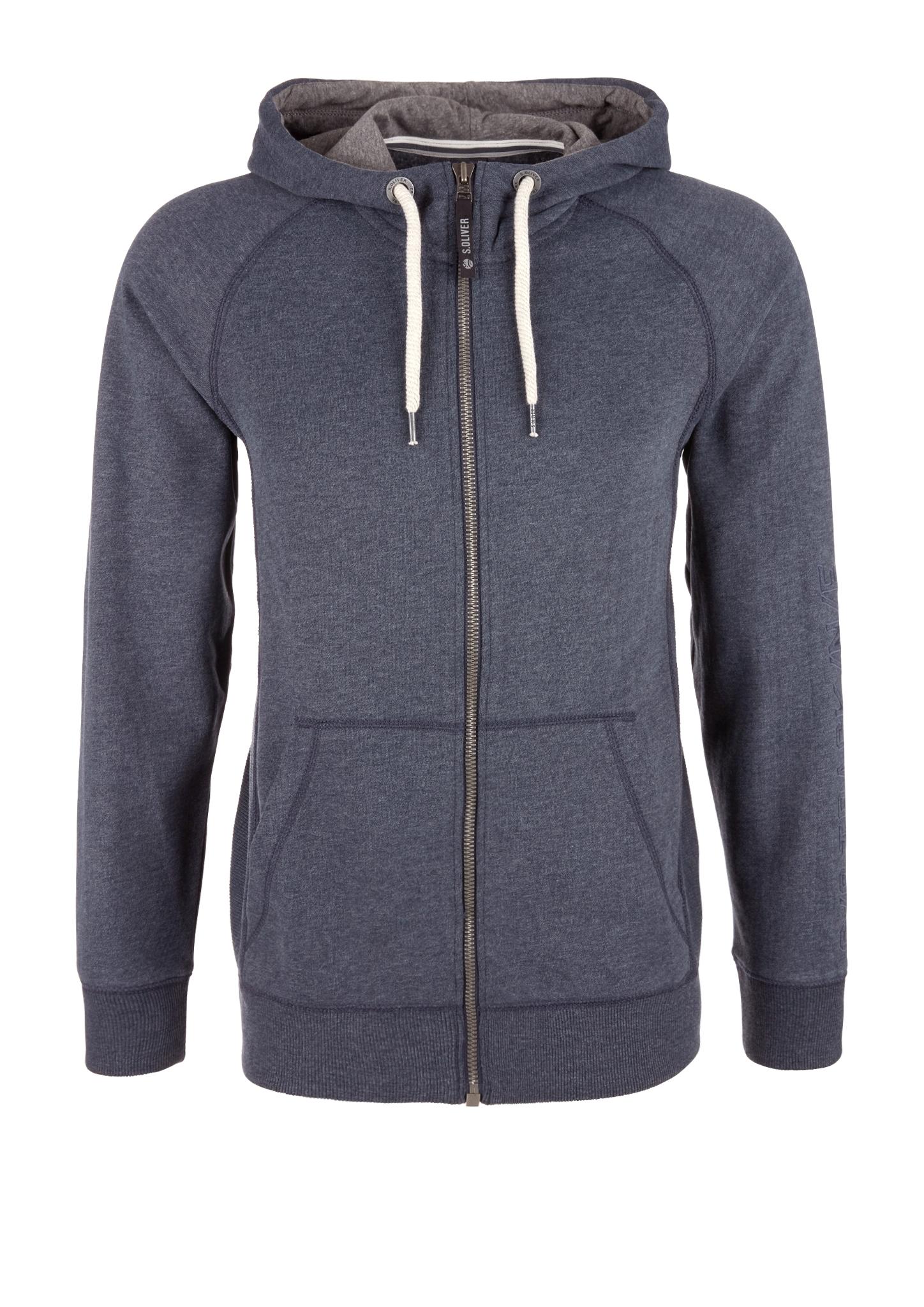 Sweatjacke | Bekleidung > Sweatshirts & -jacken > Sweatjacken | Blau | 73% baumwolle -  25% polyester -  2% viskose | s.Oliver