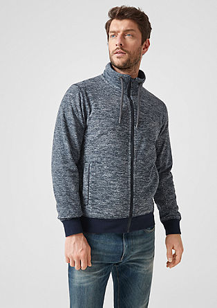 Fleece jacket with a stand-up collar from s.Oliver
