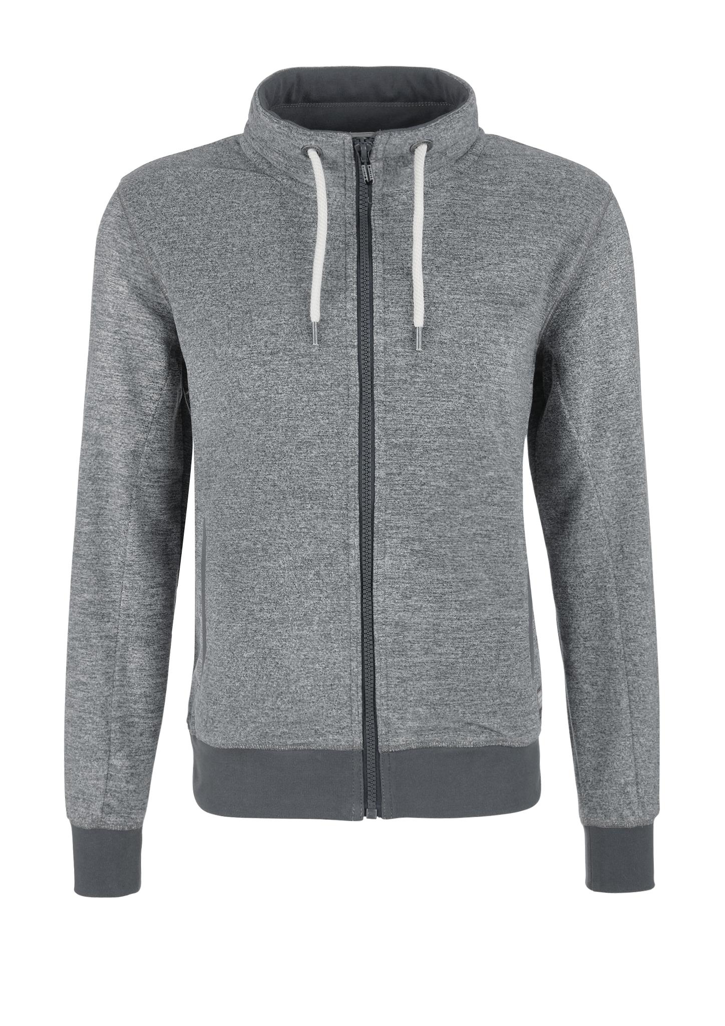 Sweatjacke   Bekleidung > Sweatshirts & -jacken > Sweatjacken   Grau/schwarz   Obermaterial 100% polyester  kragen/manschette/bund 95% baumwolle -  5% elasthan   s.Oliver