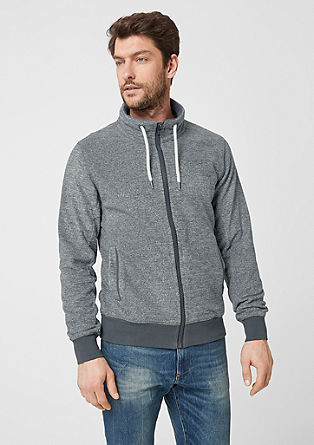 Fleece-Jacke mit Stehkragen
