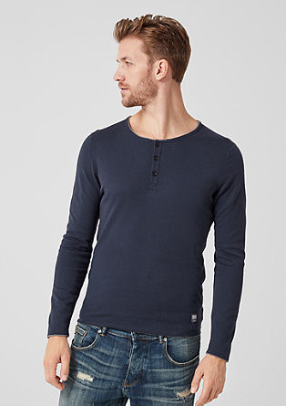 Fine knit jumper with button placket from s.Oliver