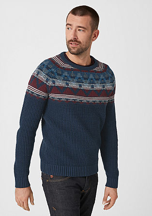 Jumper with a Nordic-style pattern from s.Oliver
