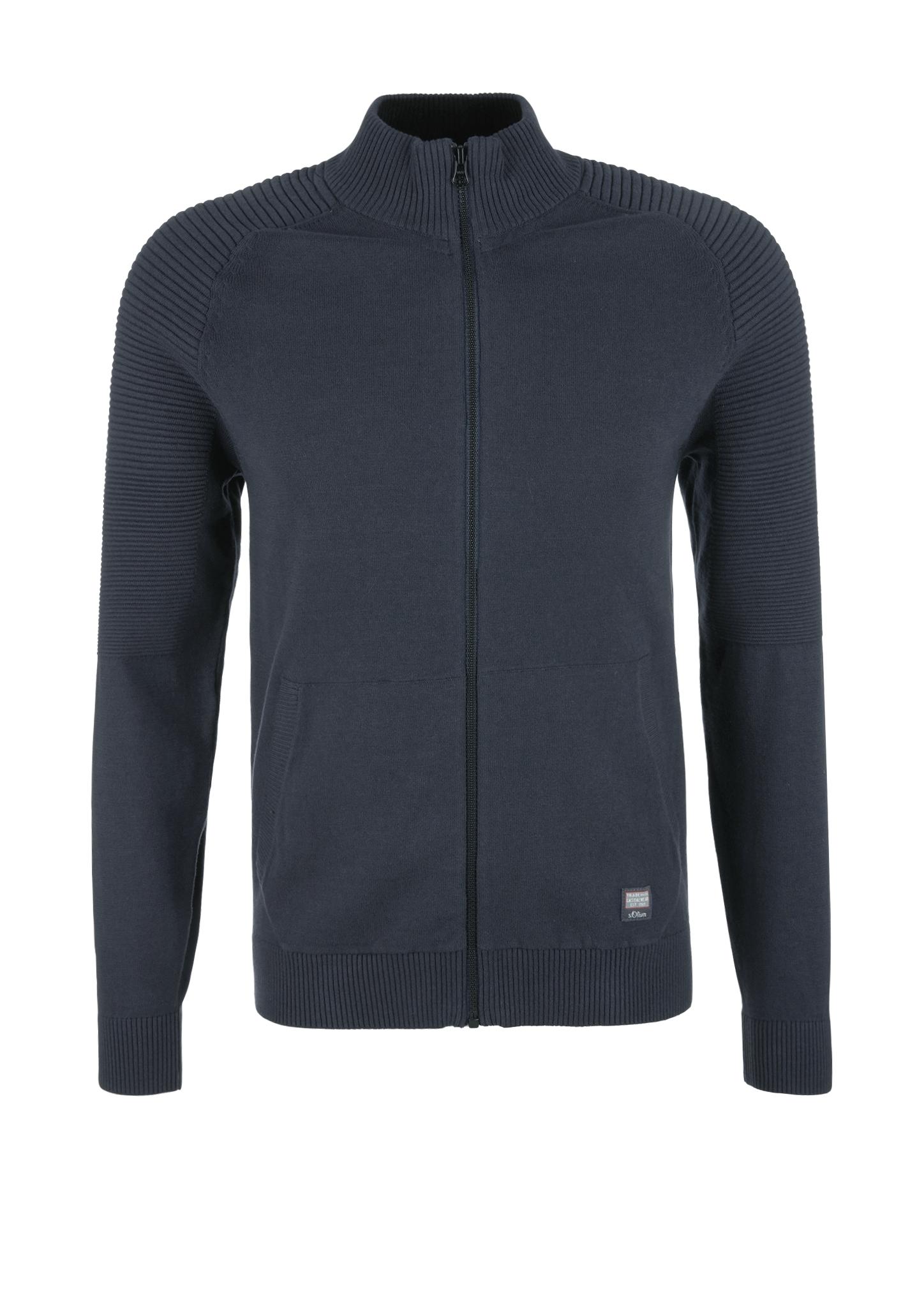 Strickjacke | Bekleidung > Strickjacken & Cardigans | Blau | 100% baumwolle | s.Oliver