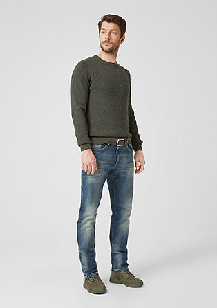 Tubx regular: blue jeans met riem