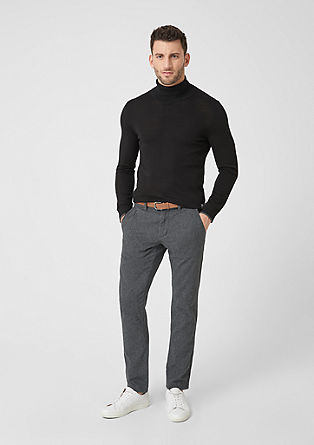 Sneck Slim: chinos with a textured pattern from s.Oliver
