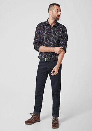 Slim: vzorovaná bavlněná košile