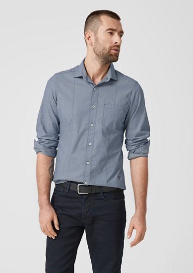 Slim: chemise à motif minimaliste de s.Oliver