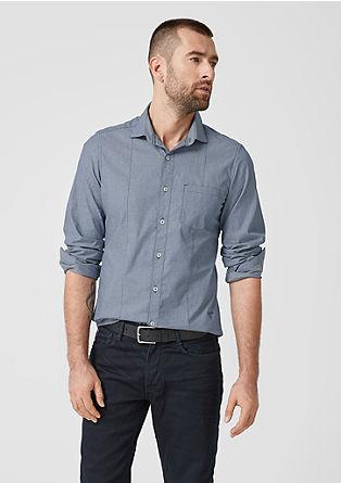 Slim: overhemd met fijn motief
