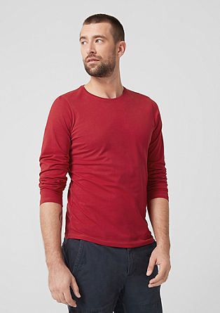 Cotton jersey long sleeve top from s.Oliver