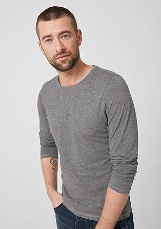Tričko s dlouhým rukávem z bavlněného žerzeje