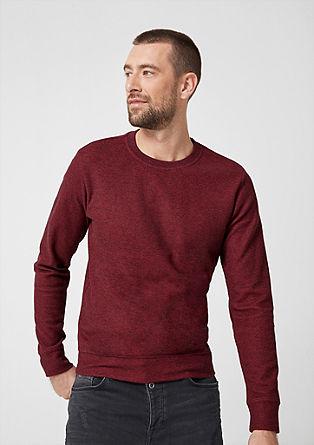Tričko s dlouhým rukávem ze strukturovaného žerzeje
