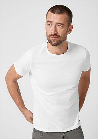 Basicshirt mit Rundhalsausschnitt