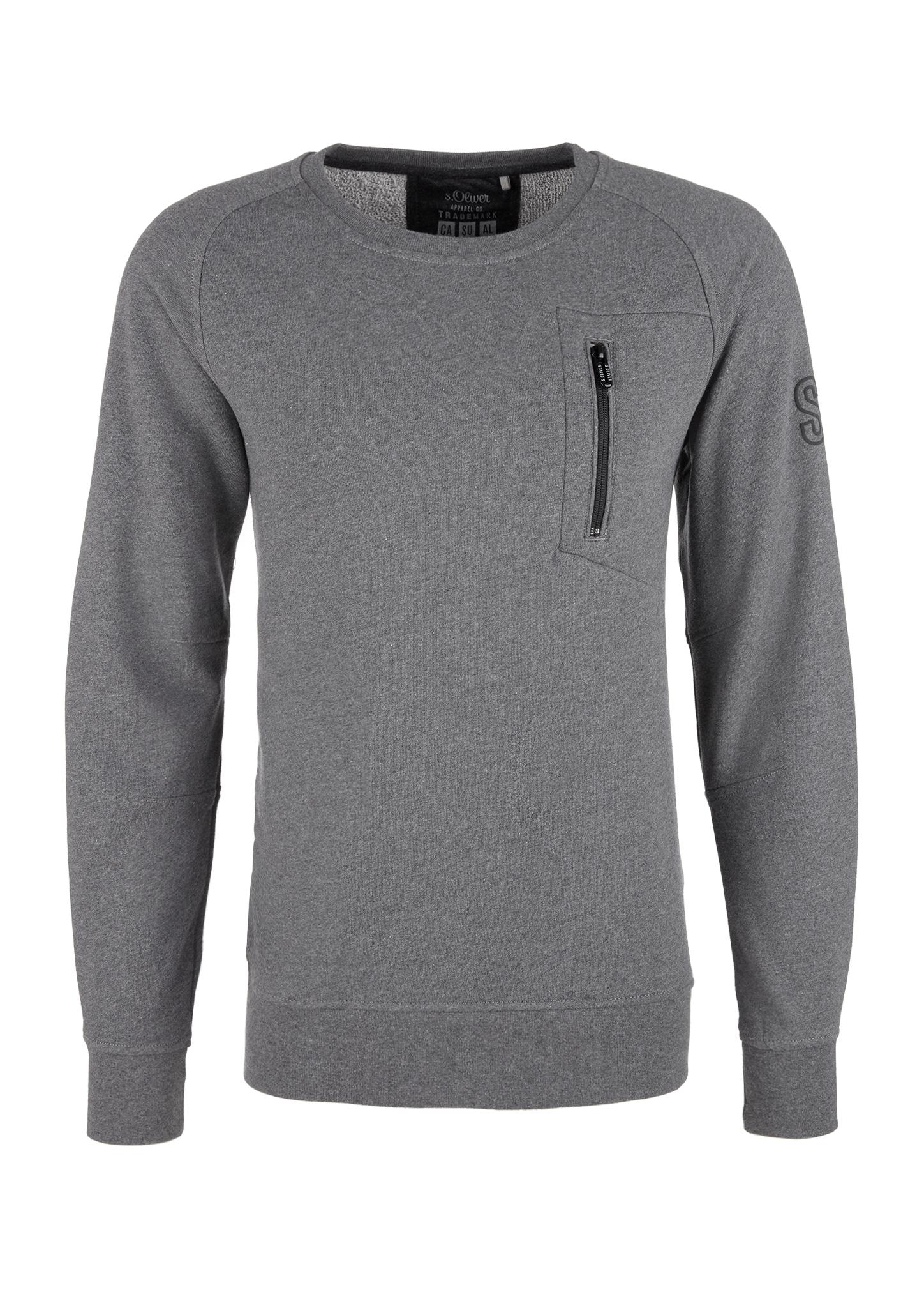 Sweatshirt | Bekleidung > Sweatshirts & -jacken > Sweatshirts | Grau | 100% baumwolle | s.Oliver