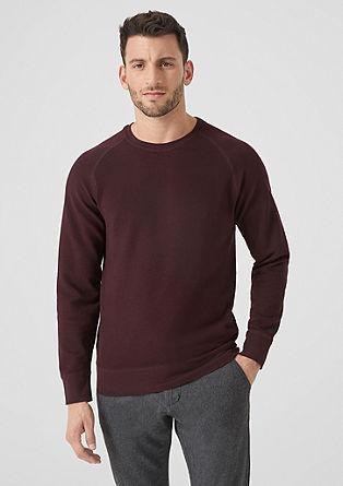Sweatshirt met strepenstructuur