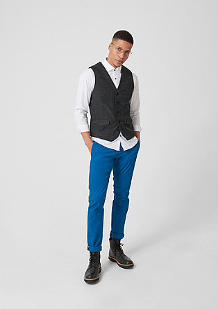 Waistcoat with a melange texture from s.Oliver