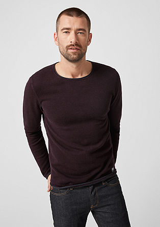 Knitted jumper with rolled edge from s.Oliver