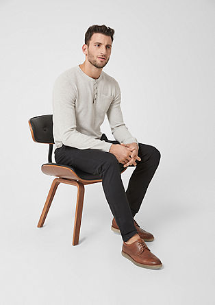 Textured Henley jumper from s.Oliver