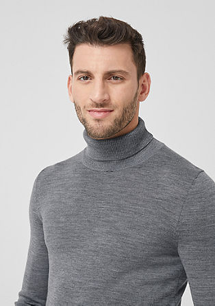 Knitted jumper with a polo neck from s.Oliver