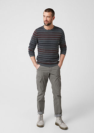 Striped fine knit jumper from s.Oliver
