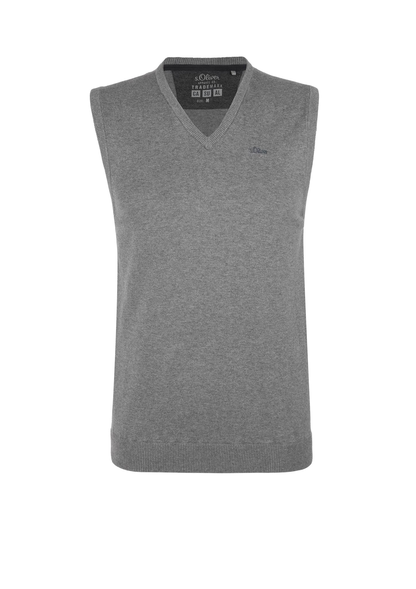 Pullunder | Bekleidung > Pullover > Pullunder | Grau/schwarz | 100% baumwolle | s.Oliver
