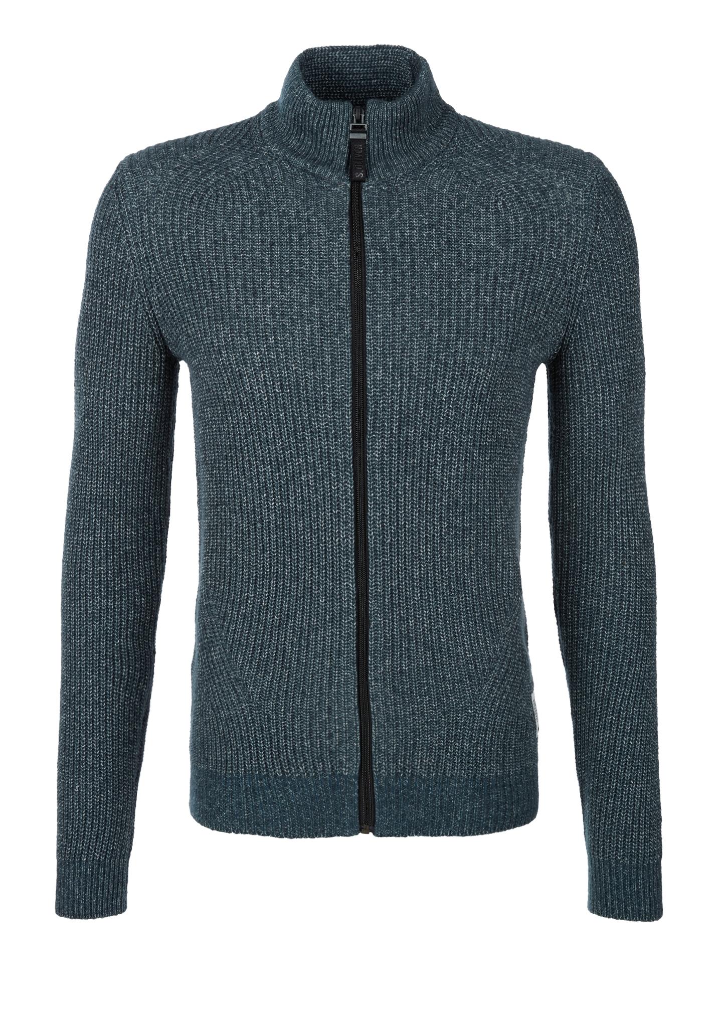 Strickjacke | Bekleidung > Strickjacken & Cardigans > Strickjacken | Blau/grün | 52% baumwolle -  48% polyacryl | s.Oliver