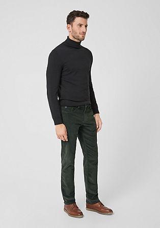 Tubx Regular: hlače iz drobnega rebrastega žameta