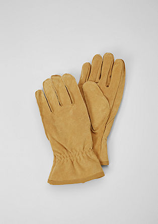Robust leather gloves from s.Oliver