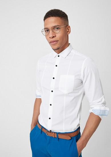 Slim: Stretchhemd aus Baumwolle