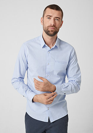 Regular: striped cotton shirt from s.Oliver