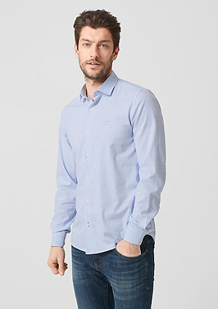 Slim: Shirt with tonal checks from s.Oliver