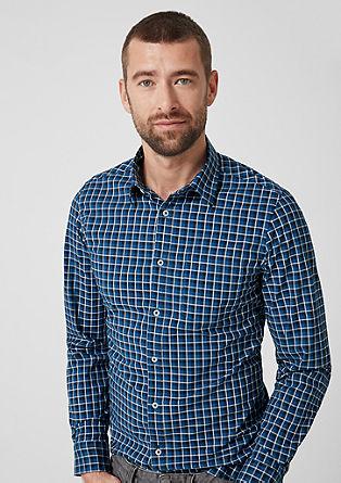 Slim: chemise à carreaux en coton de s.Oliver
