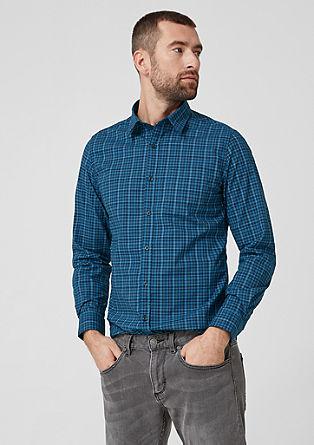 Slim: geruit katoenen overhemd