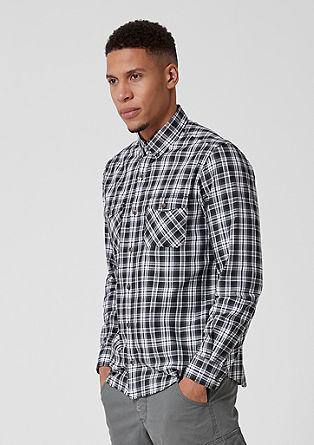 Regular: chemise à carreaux de s.Oliver