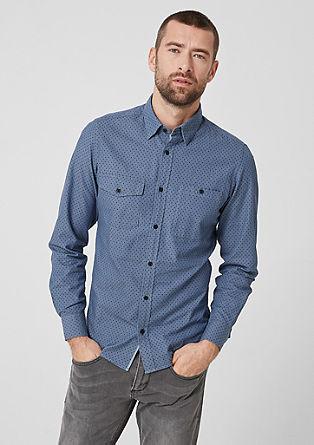Slim: Hemd mit Minimalmuster